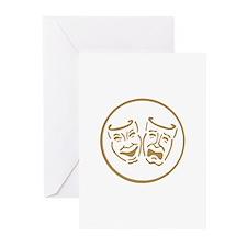 Drama Masks Greeting Cards (Pk of 20)
