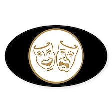 Drama Masks Oval Decal