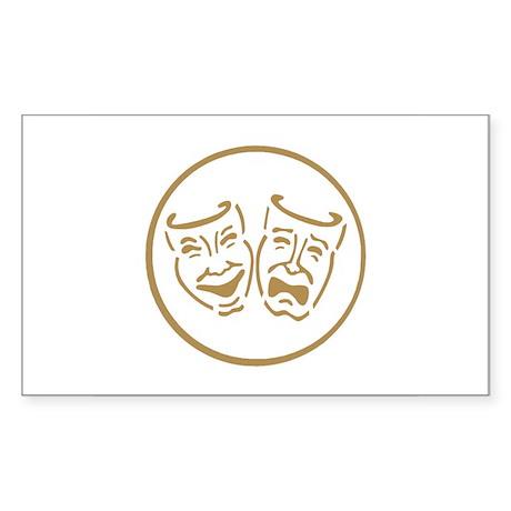 Drama Masks Rectangle Sticker