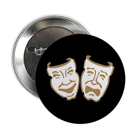 """Drama Masks 2.25"""" Button"""