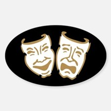 Drama Masks Oval Decal