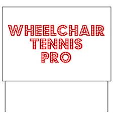 Retro Wheelchair .. (Red) Yard Sign