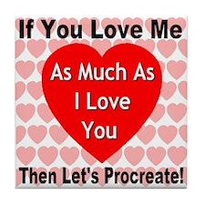Everlasting Love Heart Tile Coaster