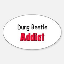 Dung Beetle Addict Oval Decal