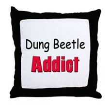 Dung Beetle Addict Throw Pillow