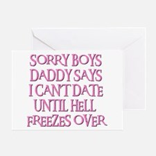 UNTIL HELL FREEZES OVER Greeting Card