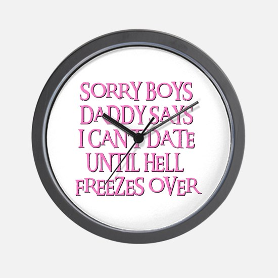 UNTIL HELL FREEZES OVER Wall Clock