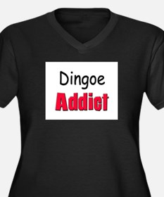 Dingoe Addict Women's Plus Size V-Neck Dark T-Shir