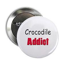 """Crocodile Addict 2.25"""" Button"""