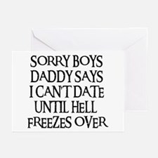 UNTIL HELL FREEZES OVER Greeting Cards (Pk of 10)
