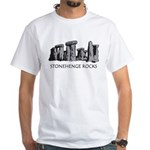 Stonehenge Rocks White T-Shirt