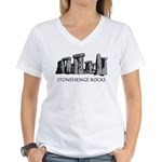 Stonehenge Rocks Women's V-Neck T-Shirt