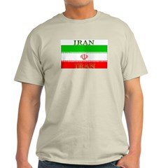 Iran Iranian Flag Ash Grey T-Shirt