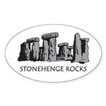 Stonehenge Rocks Oval Sticker