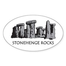 Stonehenge Rocks Oval Decal