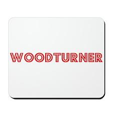 Retro Woodturner (Red) Mousepad