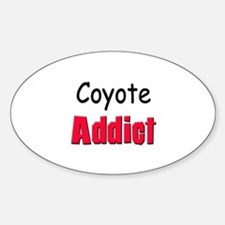 Coyote Addict Oval Decal