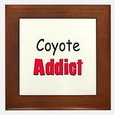 Coyote Addict Framed Tile