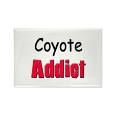 Coyote Addict Rectangle Magnet