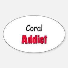 Coral Addict Oval Decal