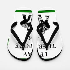 Hockey joke Flip Flops