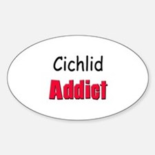 Cichlid Addict Oval Decal