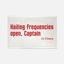 Hailing Frequencies Open Rectangle Magnet