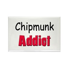 Chipmunk Addict Rectangle Magnet
