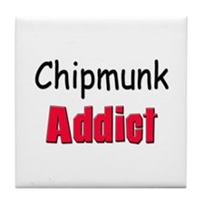 Chipmunk Addict Tile Coaster
