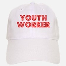 Retro Youth Worker (Red) Baseball Baseball Cap