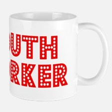 Retro Youth Worker (Red) Small Small Mug