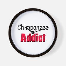 Chimpanzee Addict Wall Clock