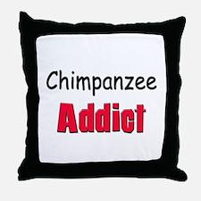 Chimpanzee Addict Throw Pillow