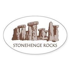 Stonehenge Rocks RD Oval Decal