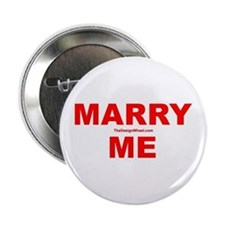 """Red Marry Me 2.25"""" Button"""