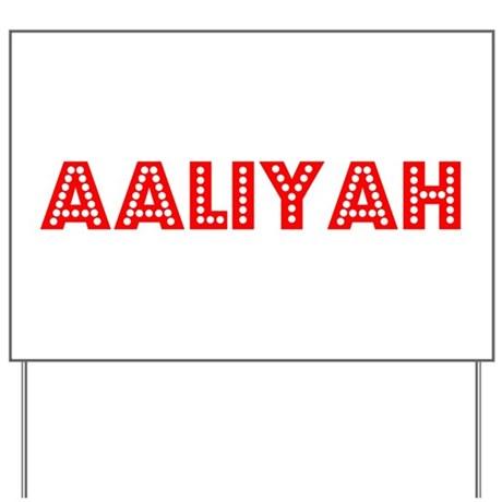 Retro Aaliyah (Red) Yard Sign