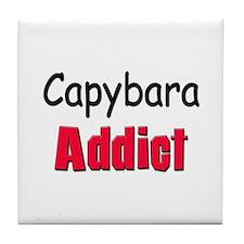 Capybara Addict Tile Coaster