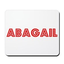 Retro Abagail (Red) Mousepad