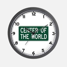 Center Of The World, OH (USA) Wall Clock