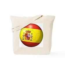 Spain Flag Soccer Ball Tote Bag