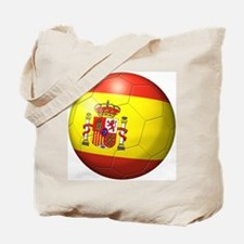Spain Flag Soccer Ball Tote Bag