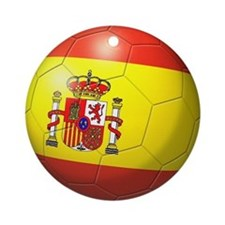 Spain Flag Soccer Ball Ornament (Round)