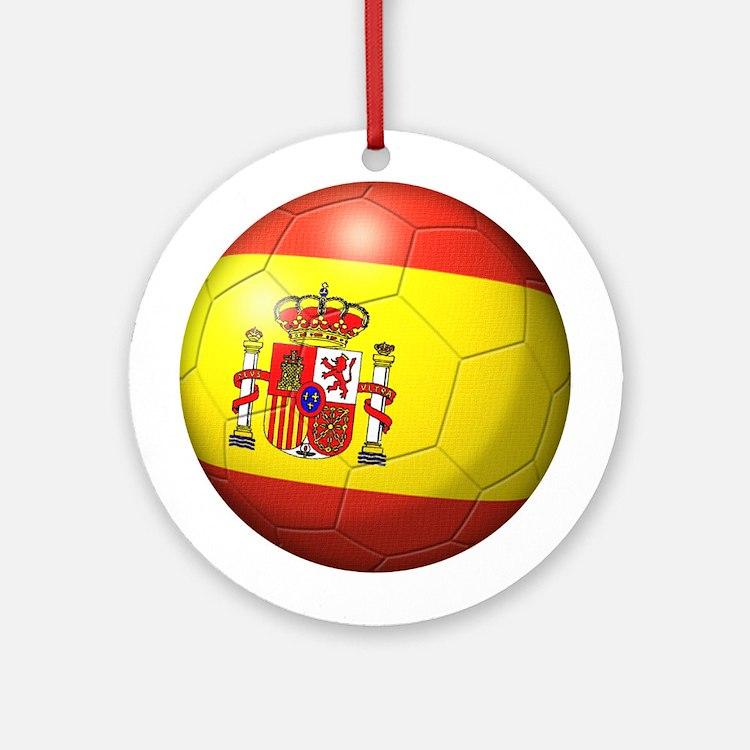 Spain Flag Soccer Ball Ornament (Round)