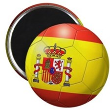 Spain Flag Soccer Ball Magnet