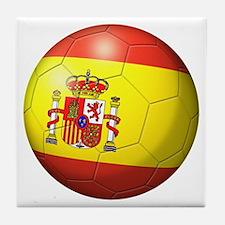 Spain Flag Soccer Ball Tile Coaster