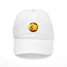 Spain Flag Soccer Ball Baseball Cap