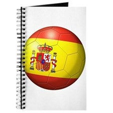 Spain Flag Soccer Ball Journal