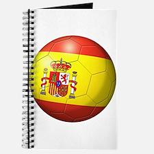 Spain Flag Soccer Ball Journal