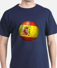 Spain Flag Soccer Ball T-Shirt