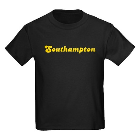 Retro Southampton (Gold) Kids Dark T-Shirt
